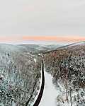 Az út - Sopron - Drónfotó (id: 16677) falikép keretezve