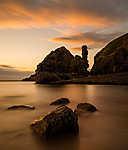 Eyemouth tengerpart, Skócia (id: 17377) vászonkép óra
