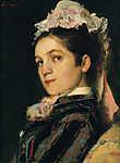 Szinyei Merse Pál: A művész felesége főkötőben (1879) (id: 20077) tapéta