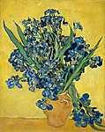 Paul Cézanne: Íriszek vázában (id: 2877) falikép keretezve