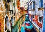 Színek Velencében (id: 3677) többrészes vászonkép