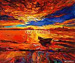 Golden naplemente (id: 4377) vászonkép