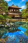 Ginkakuji (ezüst pavilon), Kyoto, Japán. (id: 9377) vászonkép óra