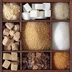 Különböző cukor fadobozban (id: 10678) többrészes vászonkép