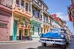 Vintage klasszikus amerikai autó Havannában, Kubában (id: 12678) poszter
