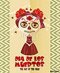A halott koponya napja. Nő calavera sminkkel. Dia de los mu (id: 12778) tapéta