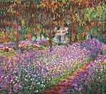 Vincent Van Gogh: Cluade Monet kertje Givernyben (id: 13178) vászonkép