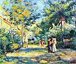 Vincent Van Gogh: Kert a Montmartre-on (id: 1378) falikép keretezve