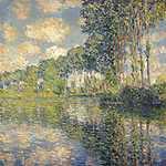Claude Monet: Nyárfák az Epte partján (1891) (id: 2978)