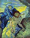 Vincent Van Gogh: Piéta (id: 378) falikép keretezve