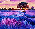 Lavender (id: 4378) vászonkép óra