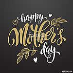 Mothers Day üdvözlőlap virágos levelek mintával. (id: 10179)