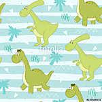 Aranyos varrat nélküli minta vicces dinoszauruszokkal. vektoros  (id: 11379) tapéta