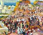 Pierre Auguste Renoir: Ünnepség a mecsetnél (id: 1379) vászonkép óra
