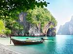 long boat on island in Thailand (id: 16379) tapéta