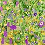 Gustav Klimt: Csók, virágmező textúra, részlet 1. (id: 21079) vászonkép óra