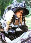 James Tissot: Fiatal nő legyezővel (id: 2379) többrészes vászonkép