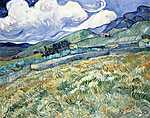 Vincent Van Gogh: Saint-Rémy-i tájkép (id: 2879) többrészes vászonkép