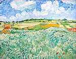 Vincent Van Gogh: Alföld Auvers közelében (id: 379) tapéta