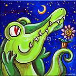 Krokodil szerelmes (id: 5379) falikép keretezve