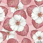 Delicate floral seamless pattern 6. Watercolor background with w (id: 14080) poszter