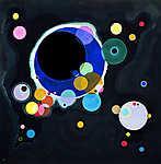 Vaszilij Kandinszkij: Néhány kör, absztrakt festmény (id: 14280) többrészes vászonkép