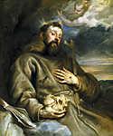Anthony van Dyck : Assisi Szent Ferenc (id: 19580) vászonkép óra