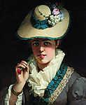 Vastagh György: Fiatal lány szegfűvel (1880) (id: 20080) tapéta