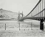 Erzsébet híd, szemben a Rudas gyógyfürdő (1907) (id: 20180) poszter