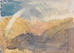 William Turner: Crichton Castle, Tájkép hegyekkel, szivárvánnyal (id: 20380) tapéta