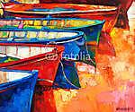 Csónakok és móló (id: 4380) falikép keretezve