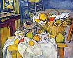 Paul Cézanne: Csendélet gyümölcskosárral (id: 480) falikép keretezve