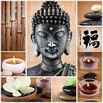 zen buddha (id: 5480) vászonkép óra