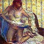 Gustav Klimt: Női akt törölközővel (id: 880)