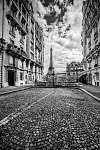 Eiffel-torony, párizsi utca (id: 12781) vászonkép