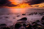 Misztikus naplemente a tengerparton (id: 17381) vászonkép óra