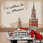Moscow vintage poster (id: 19181) vászonkép