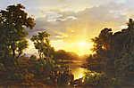 Olaszországi tájkép, naplementében (id: 19881)