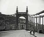 Erzsébet híd, a Szent Gellért szobor felé nézve (1907) (id: 20181) falikép keretezve