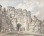 William Turner: A Christ Church Gate, Canterbury (id: 20381) falikép keretezve