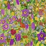 Gustav Klimt: Csók, virágmező textúra, részlet 3 (id: 21081) többrészes vászonkép