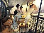 Pierre Auguste Renoir: A H.M.S. Calcutta hajó teraszán (id: 2381) vászonkép