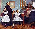 Edgar Degas: A Bellelli család portréja (id: 881) vászonkép