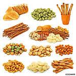 Snack gyűjtemény elszigetelt fehér háttérrel (id: 10682)