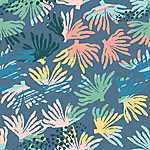 Korall motivumok - színes (id: 18182) falikép keretezve