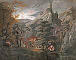 Id. Markó Károly : Katonai tábor az erdőben (id: 19882) vászonkép óra