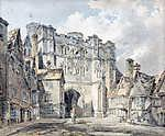 William Turner: A Christ Church Gate, Canterbury (színverzió 1) (id: 20382) falikép keretezve