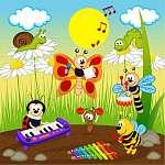 rovar zenészek - vektoros illusztráció, eps (id: 4482) poszter