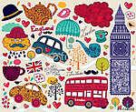 vektoros londoni szimbólumok (id: 4682) vászonkép
