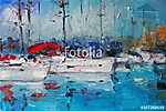 Art olajfestmény Kép Vitorlás Olaszországban (id: 9982) vászonkép óra